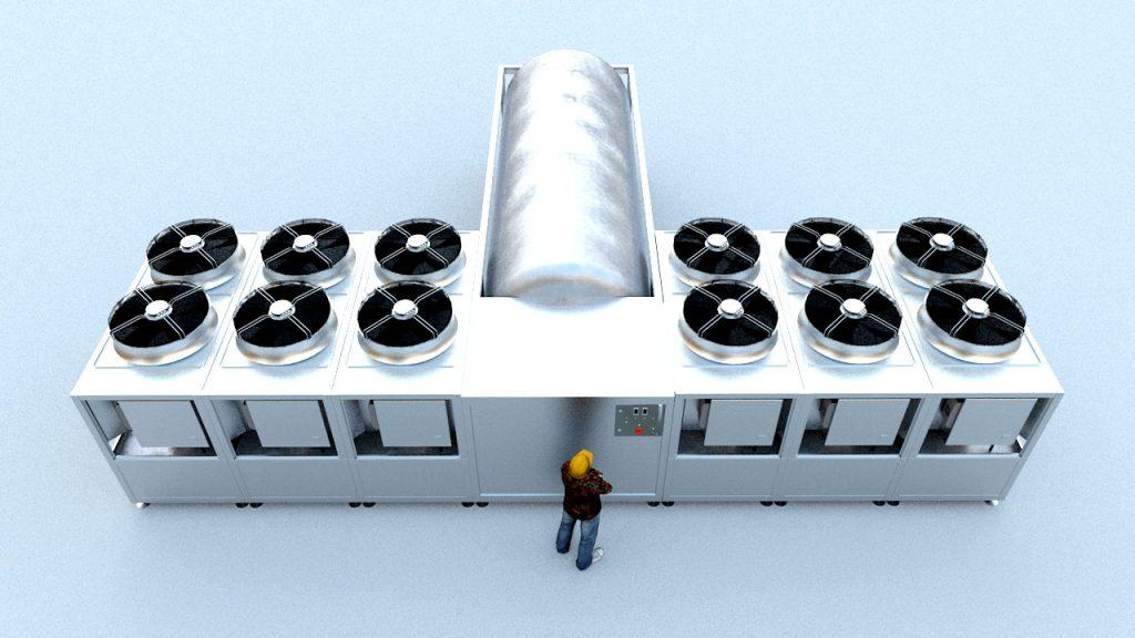 CWC80 - Konfigurationsbeispiel, 2*3 Chiller-Blöcke an zentralem Tankblock